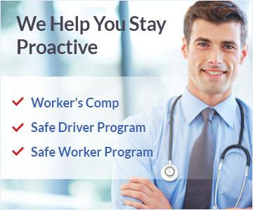 Business Solutions - Worker's Comp, Safe Driver Program, Safe Worker Program