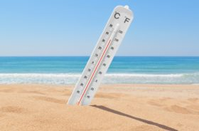 thermometer at the beach